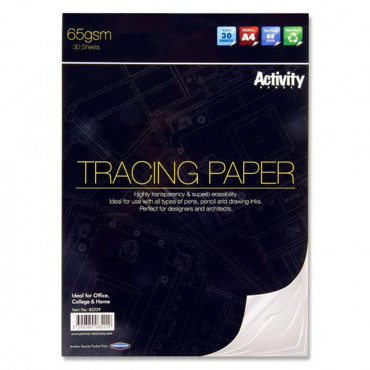 Tracing Paper A4 Activity 30 Sheet