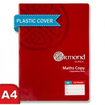 Maths Copy Plastic Cover A4 120Pg