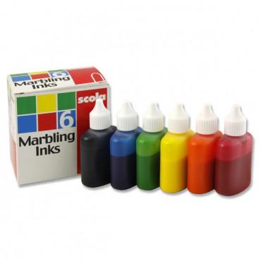 Marbling Ink 25Ml Box 6