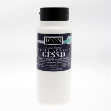 500ml Acrylic Gesso Canvas Primer - White
