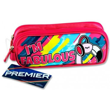 Im Fabulous Flamingo 2Pocket Pencil Case