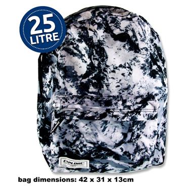 25ltr Blackpack Black Abstract Full