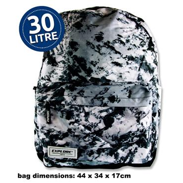 30ltr Backpack Black Abstract Full