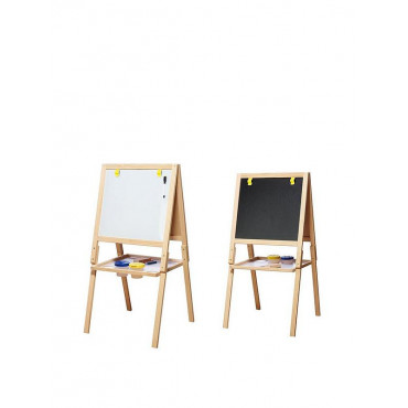 Wooden Easel White And Black Board