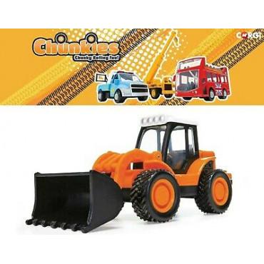 Corgi Chunkies Loader Tractor Small Orange