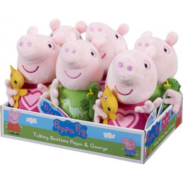 Peppa Pig & George Talking Bedtime Plush Single