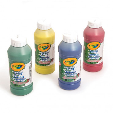 Crayola Washable Ready Mix Paint 4Pk