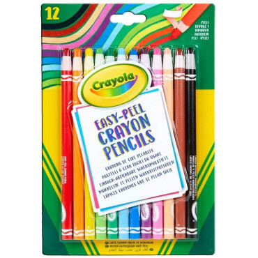 Crayola Easy Peel Crayon Pencils pk12