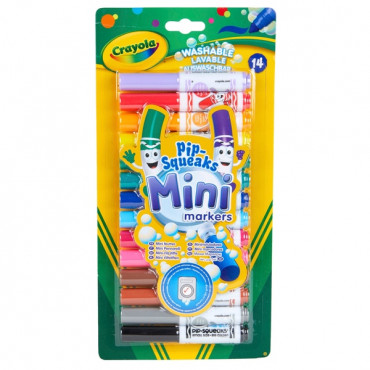 Crayola Mini Pipsqueak Markers Pk 14