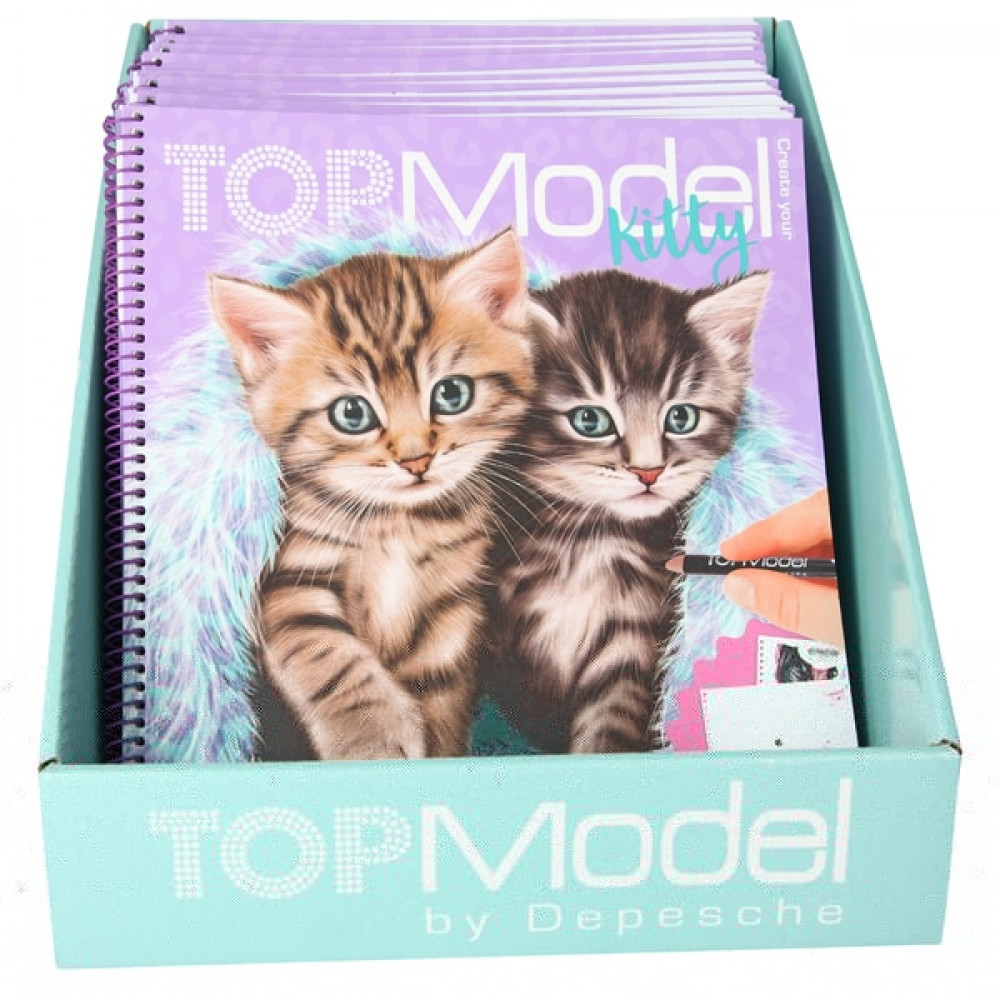 Create Your Top Model Kitty Colouring