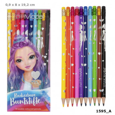 Top Model Erasable Coloured Pencils