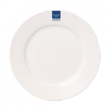 Dinner Plate White 10.5In Solar