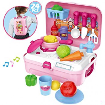 Mini Kitchen Backpack 24 Pieces with Light & Sound