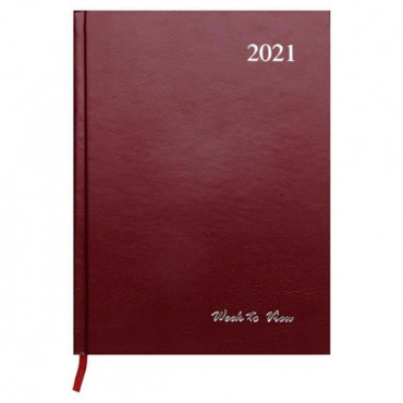 2021 A5 Diary Week To View 3 Assorted