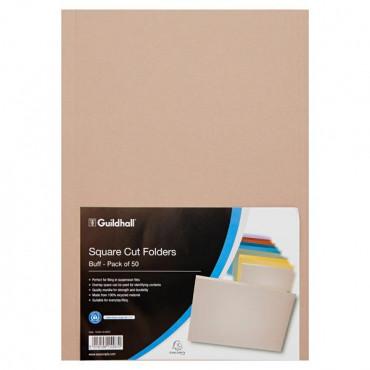 250gsm Square Cut Buff Folders