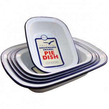 Enamel Pie Dish 18Cm Oblong