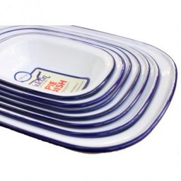 Enamel Pie Dish 20Cm Oblong