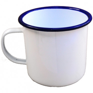 Enamel Mugs White/Blue