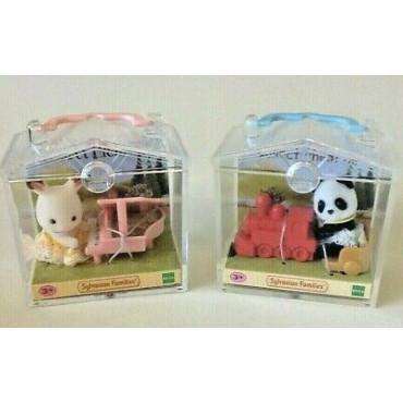 Sylvanian Baby Carry Case Rabbit/Panda