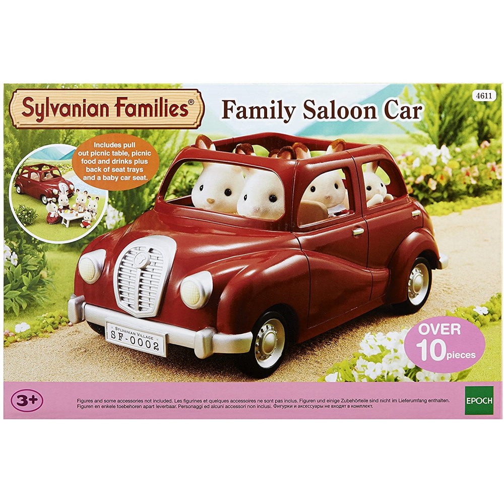 Family Saloon Car Red