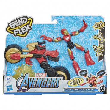 Avengers Bend and Flex Rider Iron Man