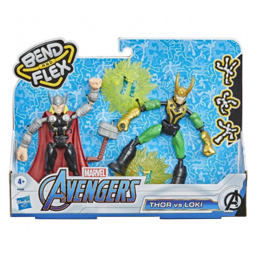 Avengers Bend and Flex Thor vs Loki
