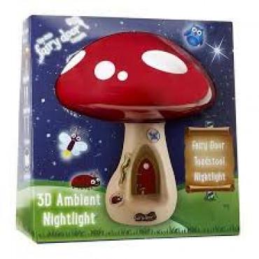 Fairy Door 3D Toadstool Light