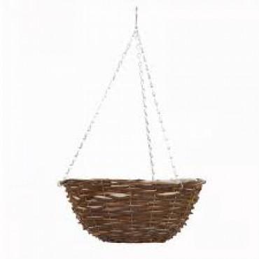 Hanging Basket 14In Rattan
