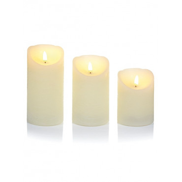 Silver Led Candle B-O 15Cm