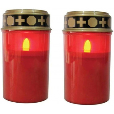 Grave Candle Flickering With Battery