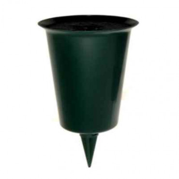Green Grave  Flower Holder Small