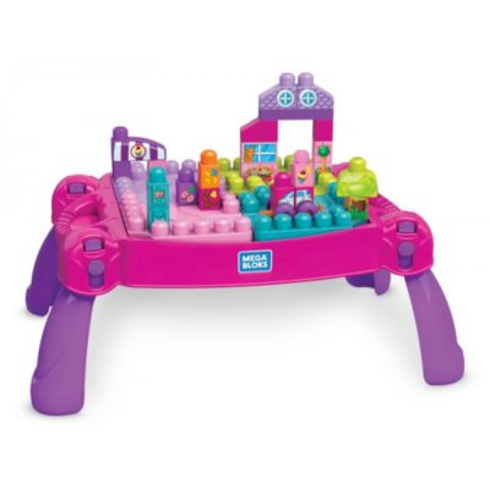 Mega Bloks Build N Learn Table Pink