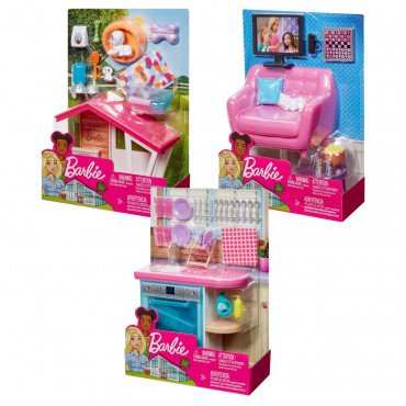 Barbie Indoor Furniture Assorted- Specify which on