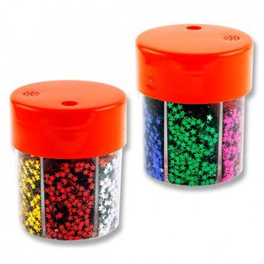 6 Part Glitter Shaker - Stars