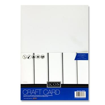 A3 Craft Card White 220Gsm 10Pk
