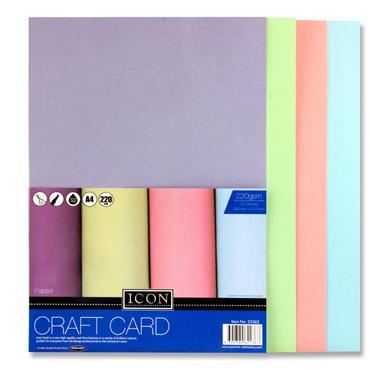 A4 Craft Card Pastel 220Gsm 10Pk
