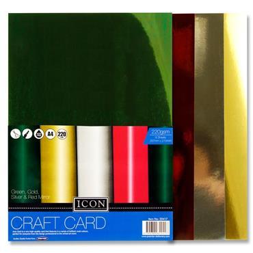 A4 Craft Card Mirror 220Gsm  8Pk