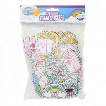 Squishy Foam Stickers - Feel Good