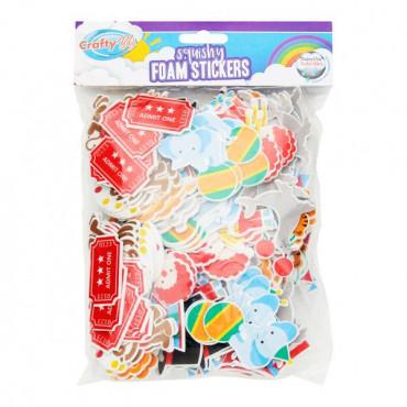Squishy Foam Stickers - Circus