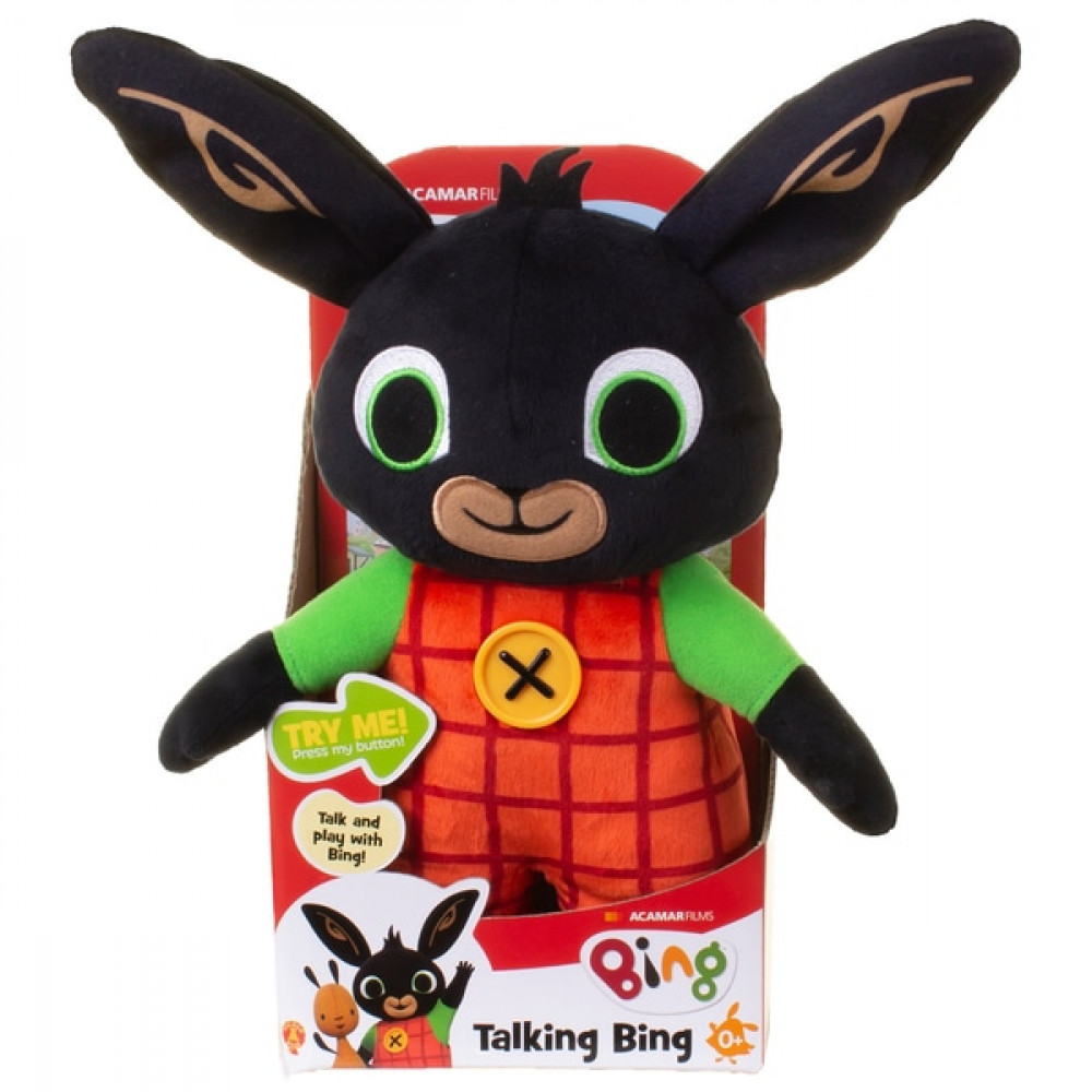 Huggable Talking Bing Soft Toy