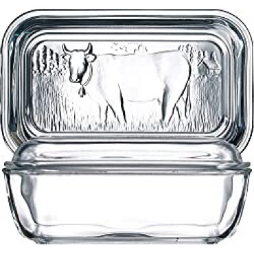 Butter Dish Cow Design W-Lid