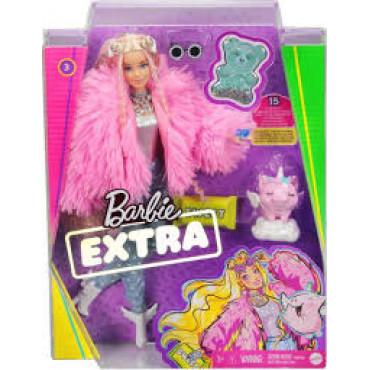 Barbie  Xtra Fluffy Pink Jacket Doll