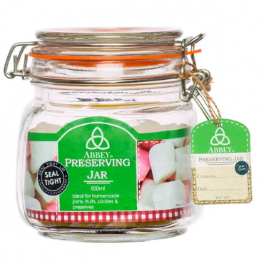 Abbey Preserve 0.5Lt Jar Clip Top