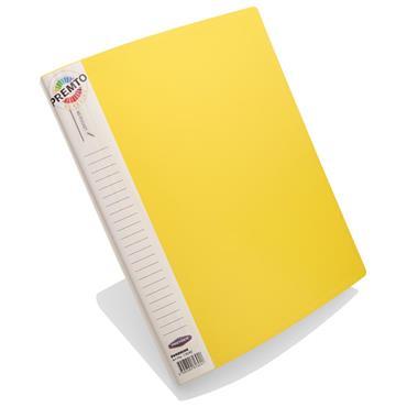 A4 40 Pocket Display Book Yellow Premtone