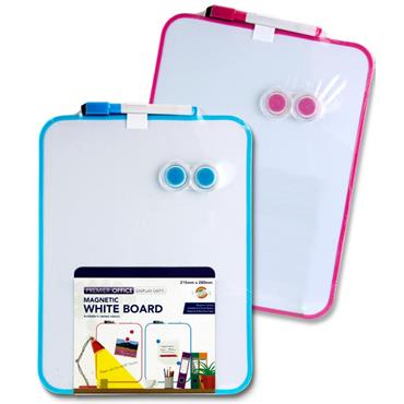 Magnetic Whiteboard 2 Colours Assorted Single