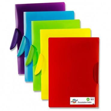 Premtone A4 Swing Clip Presentation Folder 5 Asst.