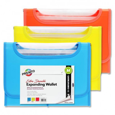 A 13 Pocket Expanding File Neon 3 Asst.