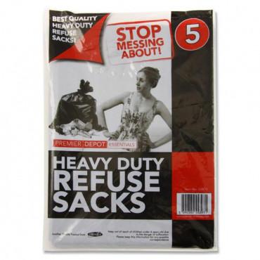 Blackheavy Duty Refuse Bag Pk5