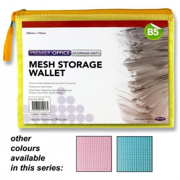B5 Mesh Wallet Assorted 3 Colours