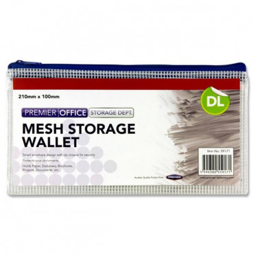 Mesh Wallet Dl Size Clear